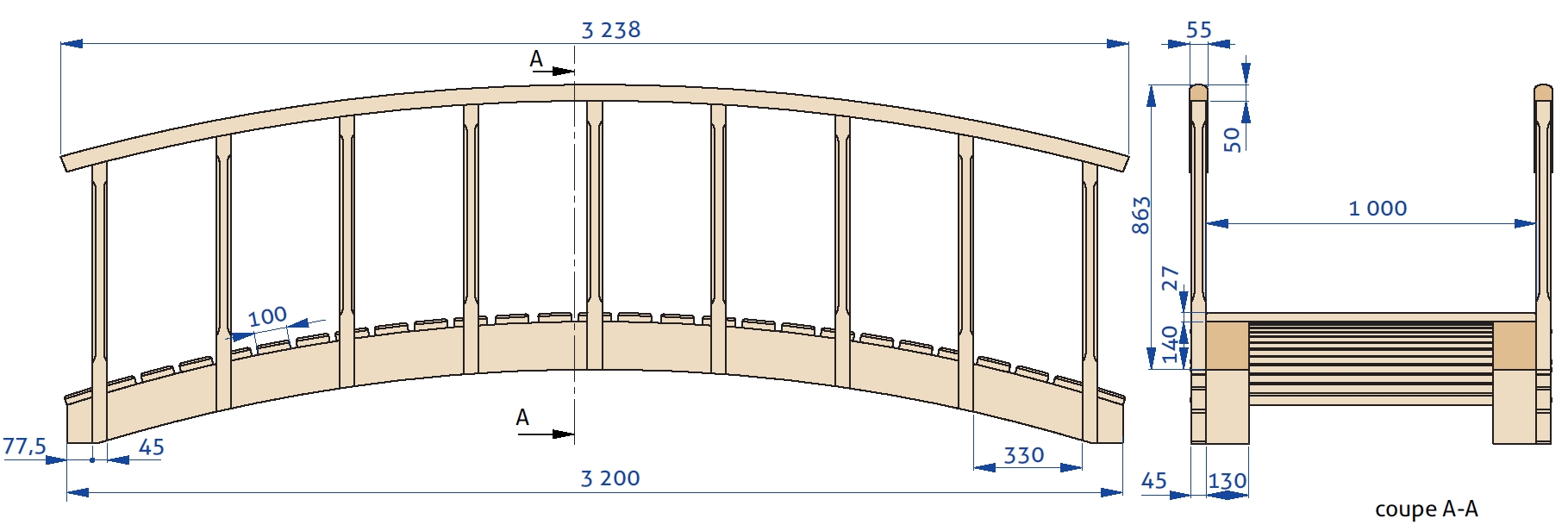 Fabriquer Un Petit Pont De Bois un petit pont japonais | bois+ le bouvet