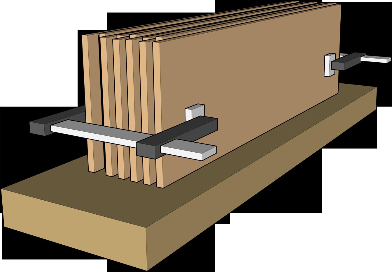 mise à largeur de pièces fines
