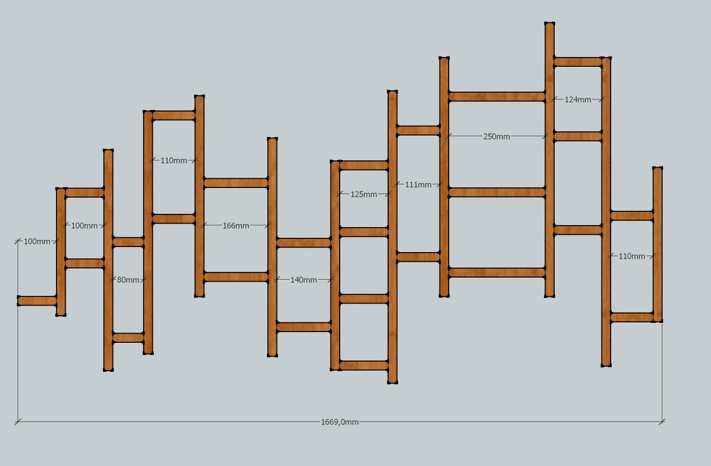 des tag res murales compl ments de plans bois le bouvet. Black Bedroom Furniture Sets. Home Design Ideas
