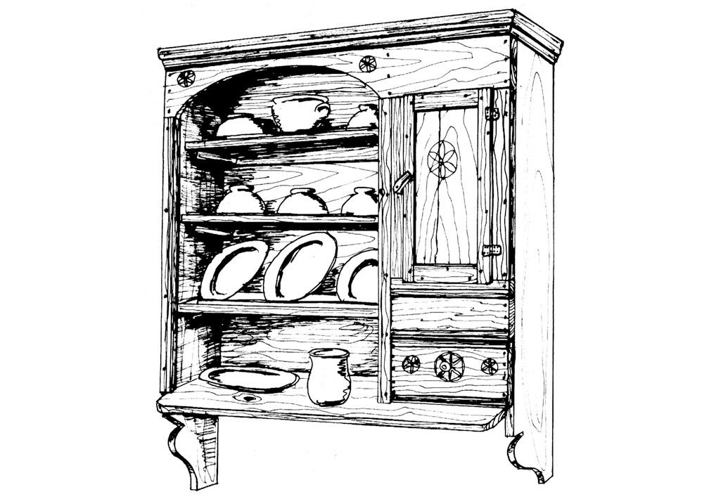 un vaisselier de berger savoyard bois le bouvet. Black Bedroom Furniture Sets. Home Design Ideas