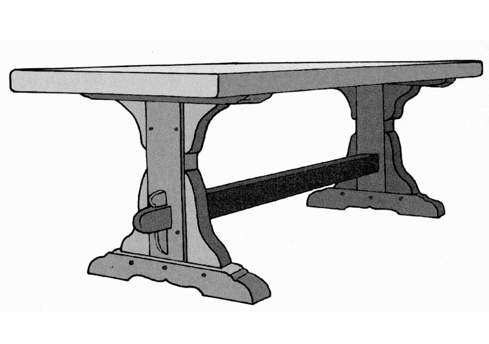 une table de monast re bois le bouvet. Black Bedroom Furniture Sets. Home Design Ideas