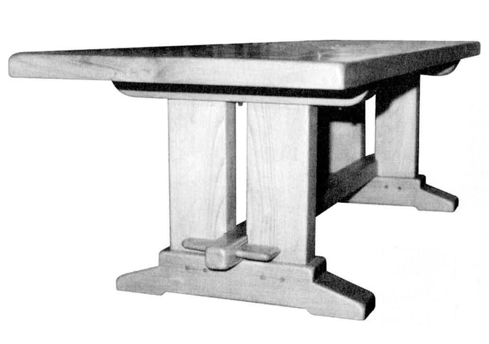 Une table rustique bois le bouvet - Table rustique ...