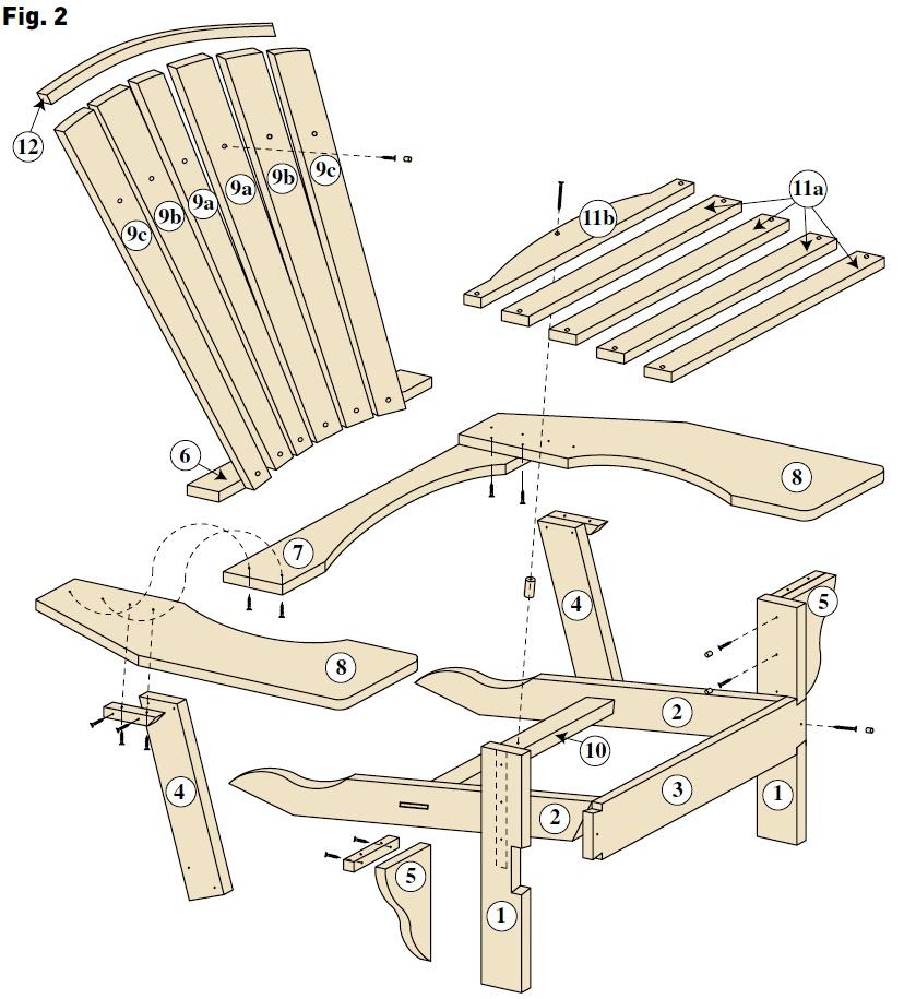 Un fauteuil adirondack bois le bouvet for Modele de fauteuil en palette