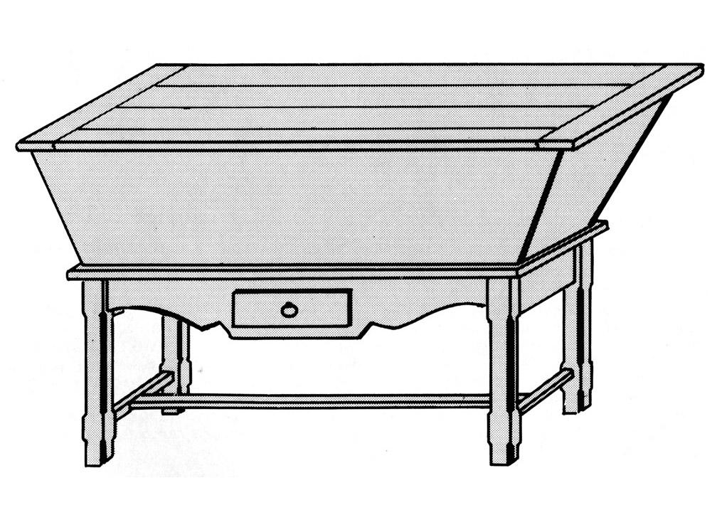 un p trin ou maie p trissoire bois le bouvet. Black Bedroom Furniture Sets. Home Design Ideas