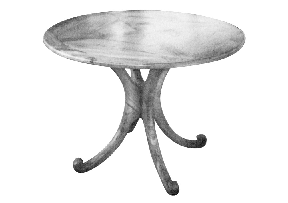 Un pied pour table ronde bois le bouvet for Table un pied