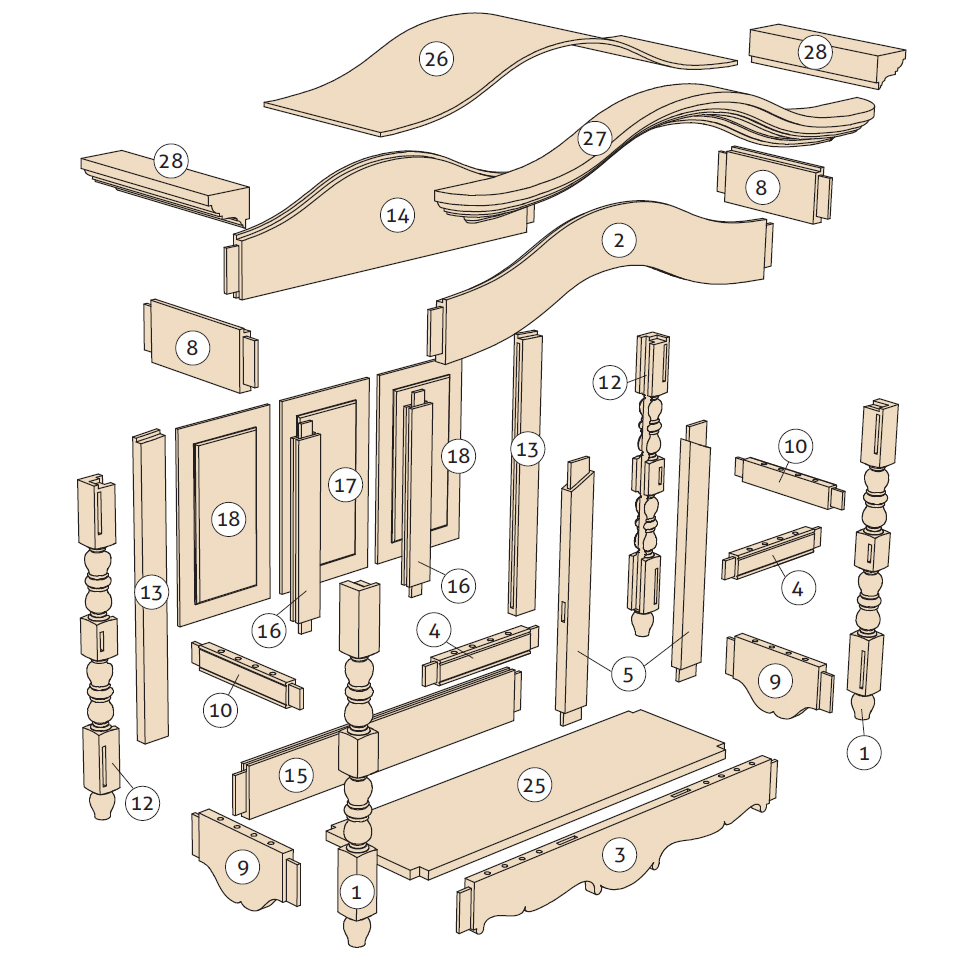 Plan commode bois gratuit for Plan de chaise en bois gratuit