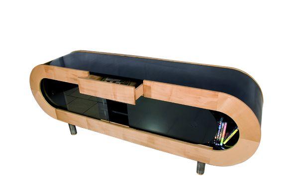 Un meuble t l design bois le bouvet for Meuble tv petite taille