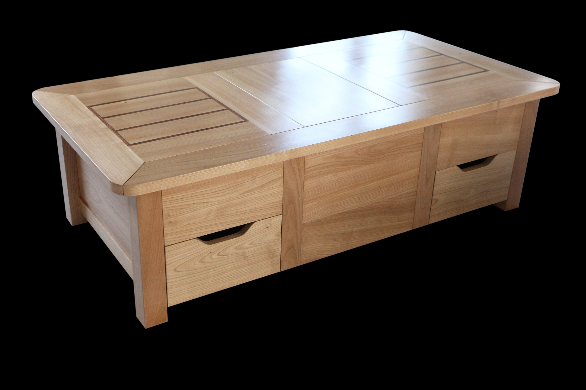 Une table coffre moderne et astucieuse bois le bouvet for Modele de table de salon moderne
