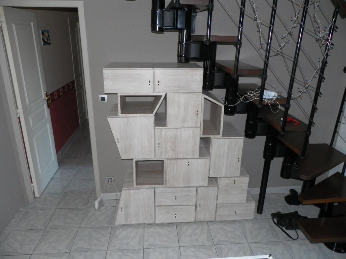 Meuble d structur sous un escalier bois le bouvet Meubles sous escalier