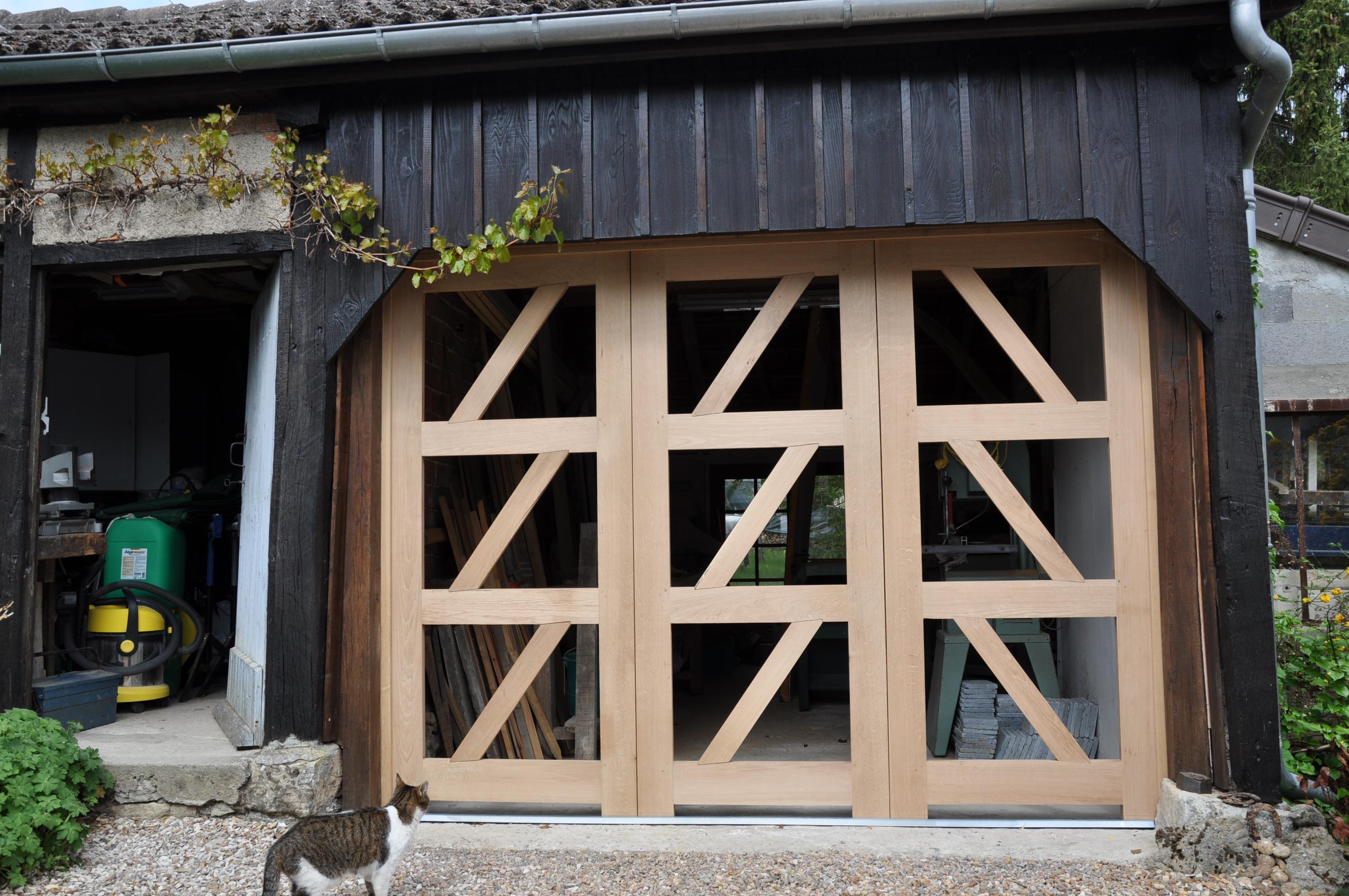 Porte d 39 atelier bois le bouvet - Porte d atelier en bois ...