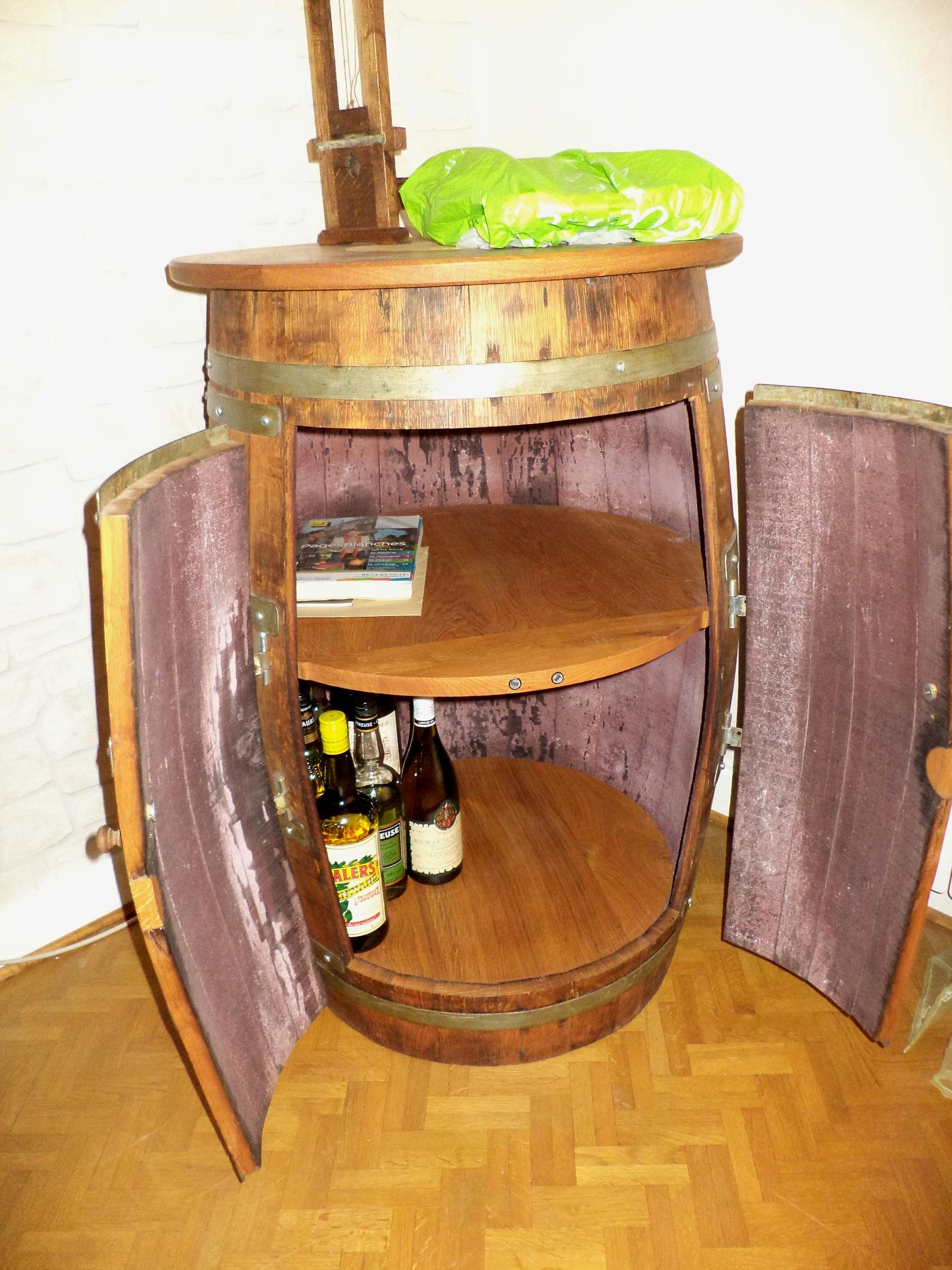 Meuble En Tonneau De Vin un bar tonneau   bois+ le bouvet