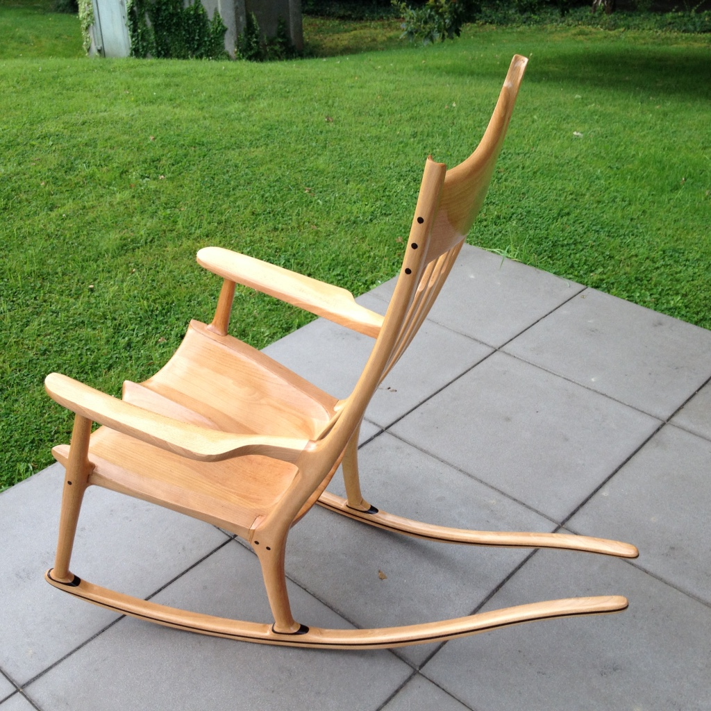 Un rocking-chair en hêtre | Bois+ Le Bouvet