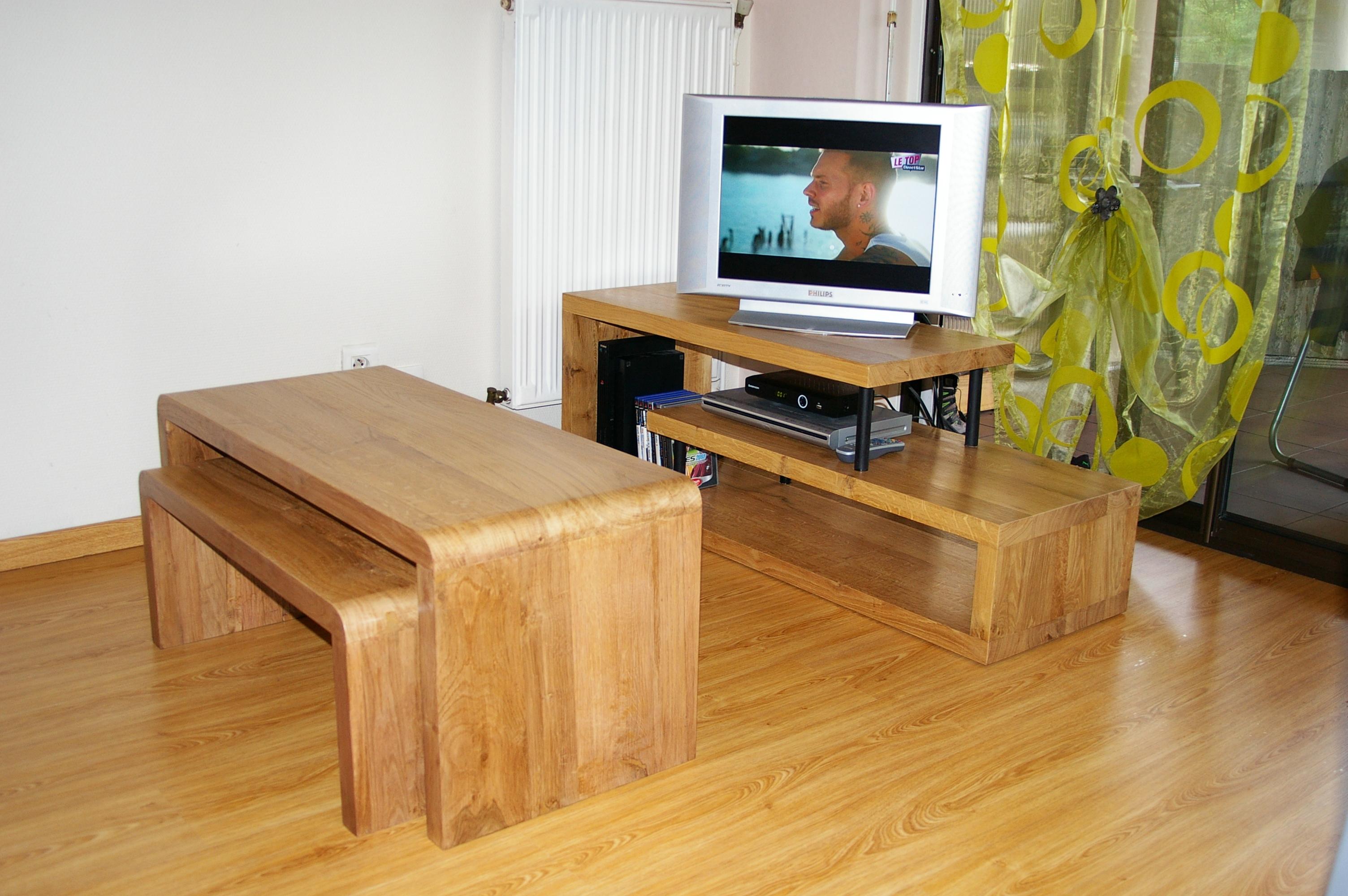 Meuble T L Et Tables Basses Gigognes De Style Pur Bois  # Meuble Tv Gigogne
