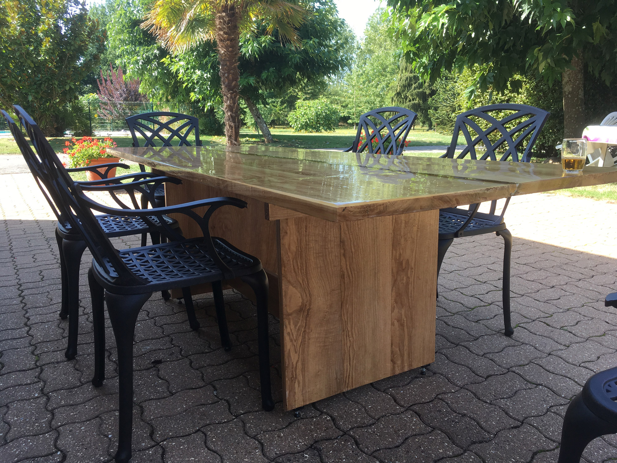 Une table de jardin | Bois+ Le Bouvet