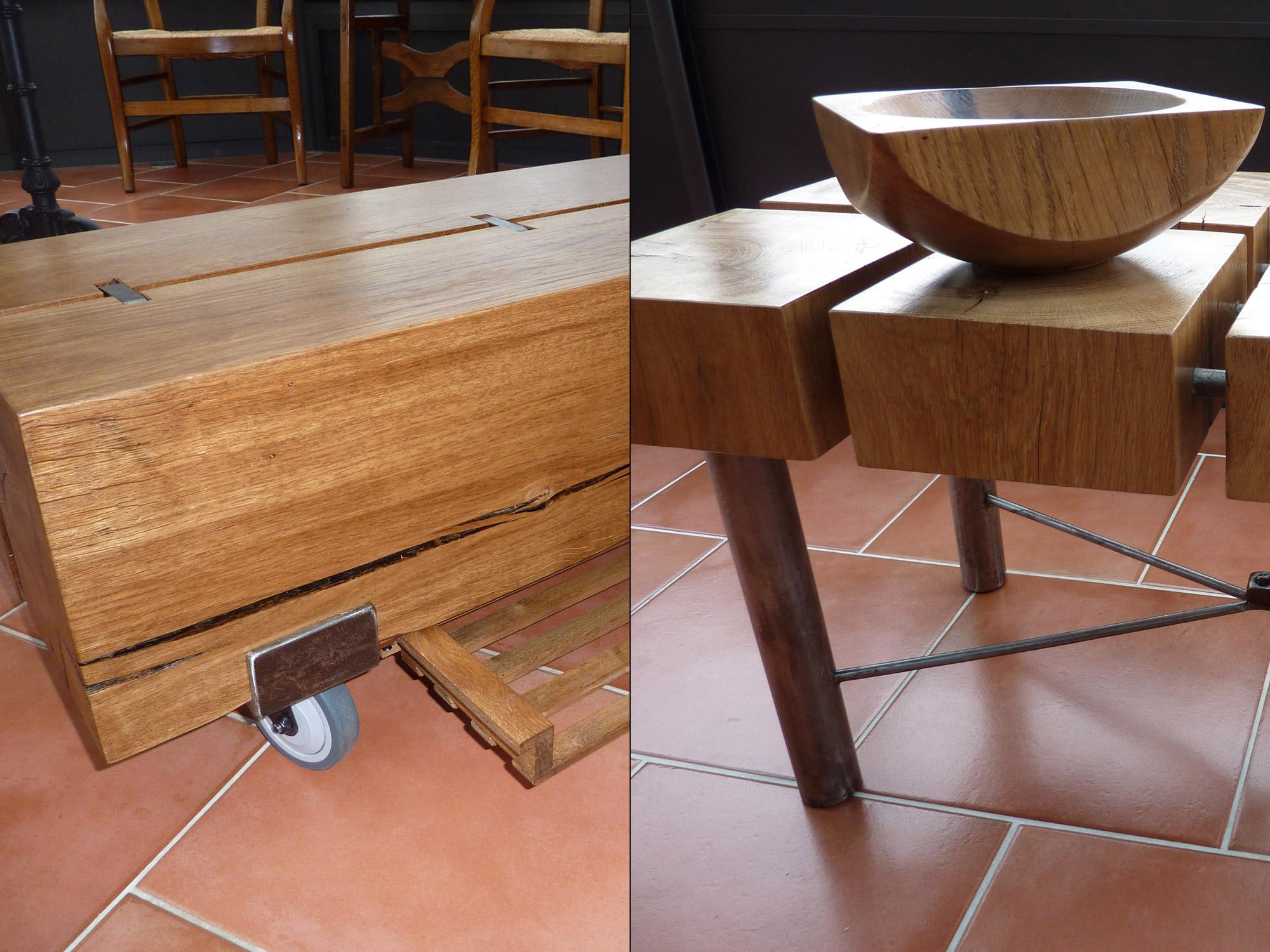 deux tables basses bois le bouvet. Black Bedroom Furniture Sets. Home Design Ideas