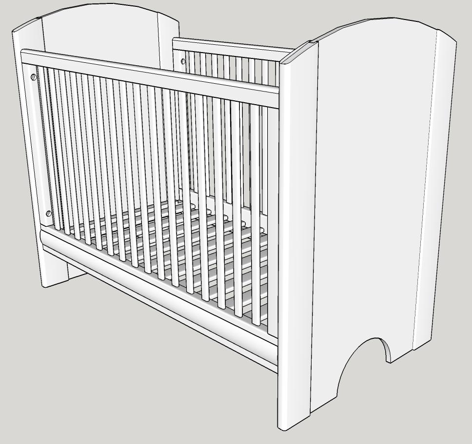 Un lit pour bébé simple et moderne | Bois+ Le Bouvet