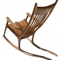 L'assemblage à « double mortaise » du rocking chair de Sam Maloof - Bouvet 193