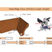 Une corniche particuli re obtenez facilement les angles d 39 usinage bois le bouvet - Assemblage coupe d onglet ...