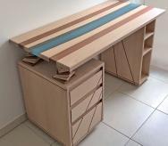 Un bureau façon «river table»