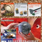 Tournage sur bois n°18 Brûlez et craquelez vos pièces