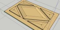 TUTO : modéliser un panneau à pointe de diamant avec SketchUp