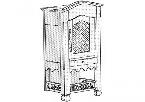 un garde manger mural avec gouttoir bois le bouvet. Black Bedroom Furniture Sets. Home Design Ideas