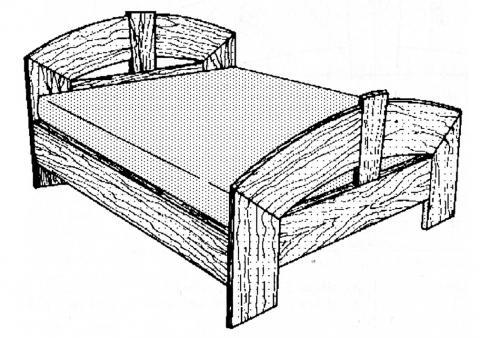 un lit en orme bois le bouvet. Black Bedroom Furniture Sets. Home Design Ideas