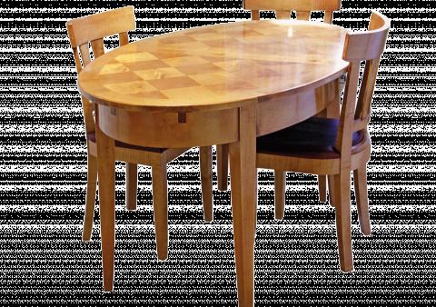 Une table elliptique bois le bouvet - Modele table a manger en bois ...