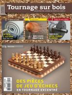 Tournage sur bois n°10 Des pièces de jeu d'échecs en tournage excentré