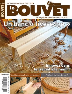 """Le Bouvet n°200 Un banc """"live-edge"""""""