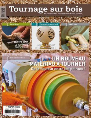 Tournage sur bois n°25 - Un nouveau matériau à tourner