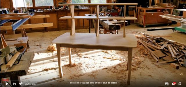 Vidéo : fabrication d'un bureau, les pieds (outils à main)