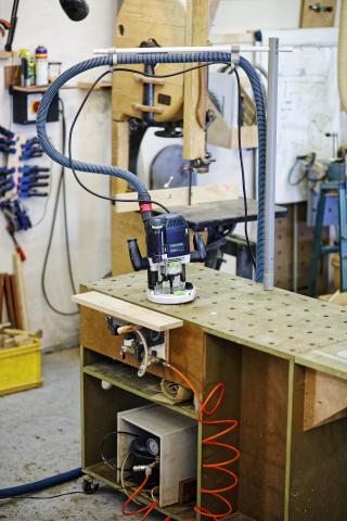 Aménager son atelier : un établi polyvalent, table de défonceuse