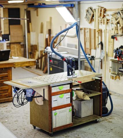 Aménager son atelier : un établi polyvalent