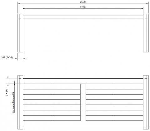 Une table de terrasse stable et moderne : plans cotés
