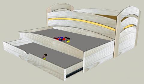 Une série de lits gigognes : variante à plateau de jeu (1)