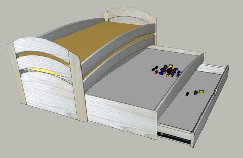 Une série de lits gigognes : variante à plateau de jeu (2)