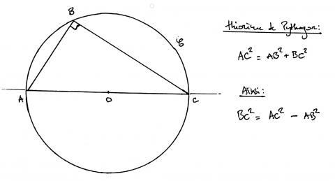 Bouvet n° 206, erratum : théorème de Pythagore