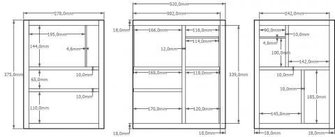 Aménagement intérieur du coffre-cabinet 1