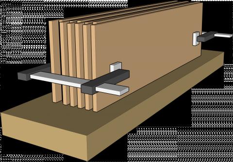 Dégau-rabo, travaux spéciaux : mise à largeur de pièces fines