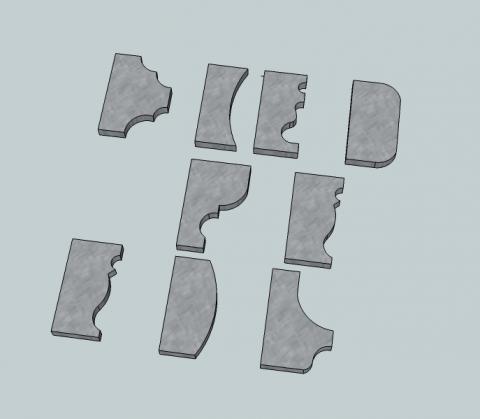 Fabriquer et installer une corniche partir de ses fers for Outil miroir sketchup