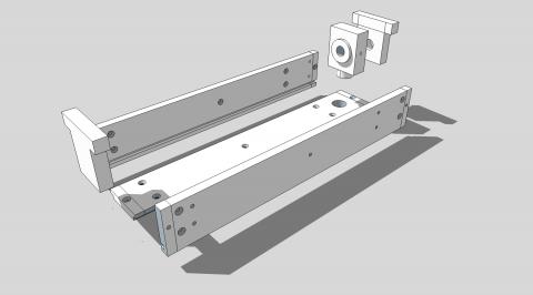 Travail du métal : fabriquer une presse d'établi, schéma de principe