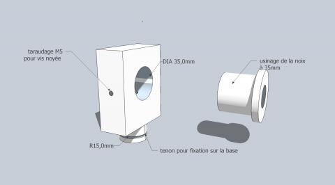 Travail du métal : fabriquer une presse d'établi, support de noix (schéma)
