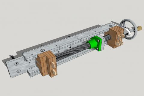 Travail du métal : fabriquer une presse d'établi, vue d'ensemble (schéma)