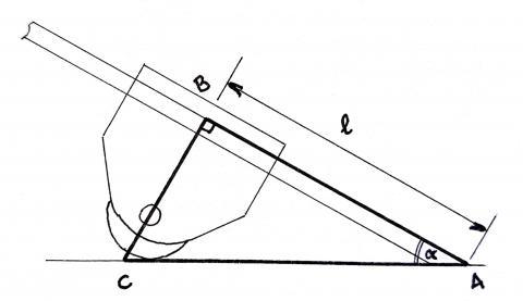 Gabarit d'affûtage, méthode géométrique : schéma de simplification
