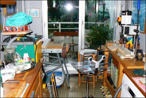 Atelier bois dans la cuisine : vue d'ensemble 2016