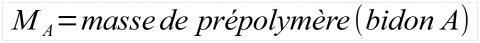 Mélange de résine époxy, calcul 1