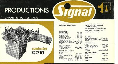 Combinée à bois Signal C210, caractéristiques