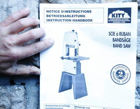 Scie à ruban Kity 613, notice 1