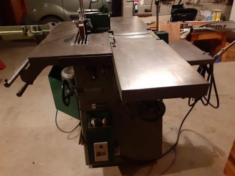 Combinée à bois 5 opérations Dugué 260 mm (tableau de commandes)